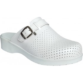 Leather Hospital Nursing Clogs HD222